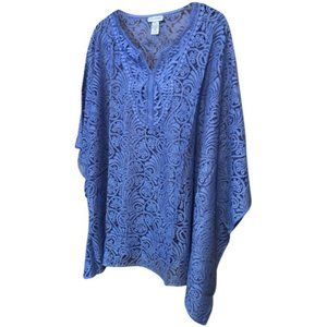 Catherines Purple Lace Top Shawl Cape  Plus Size 2X/3X NWT